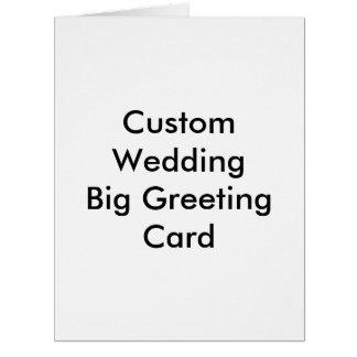 Tarjeta de felicitación grande del boda de encargo