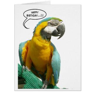Tarjeta de felicitación grande del cumpleaños