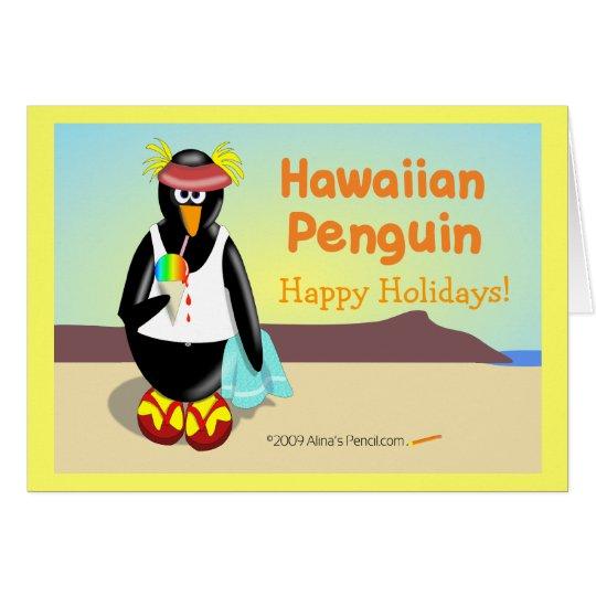 Tarjeta de felicitación hawaiana del día de fiesta