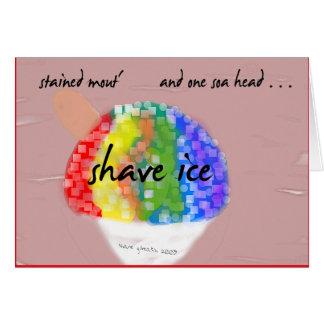 Tarjeta de felicitación hawaiana del hielo del afe