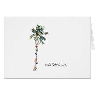 Tarjeta de felicitación hawaiana del navidad de