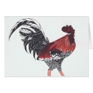 Tarjeta de felicitación hawaiana salvaje del gallo