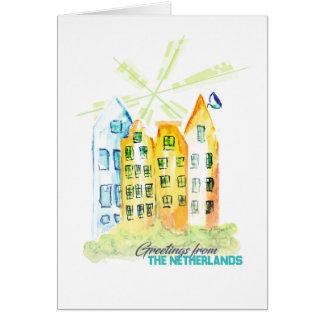 Tarjeta de felicitación hecha a mano de Nederland