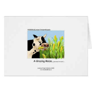 Tarjeta de felicitación hilarante de la vaca
