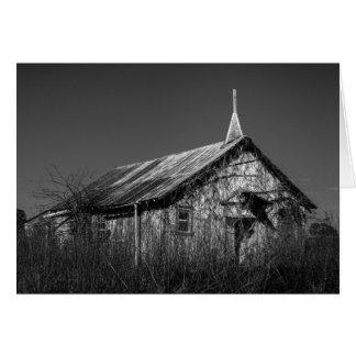 Tarjeta de felicitación - iglesia abandonada del