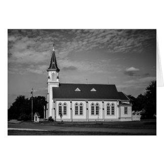 Tarjeta de felicitación - iglesia del país