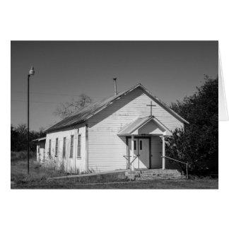 Tarjeta de felicitación - iglesia del país de