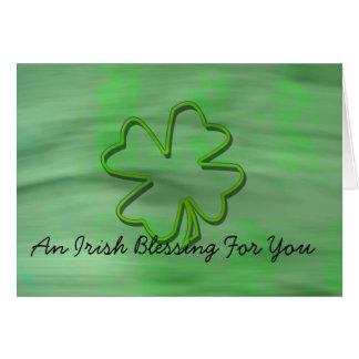 Tarjeta de felicitación irlandesa de la bendición