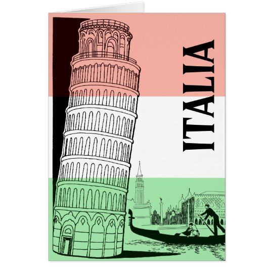 Tarjeta de felicitación italiana de la señal -