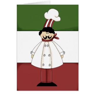 Tarjeta de felicitación italiana del dibujo