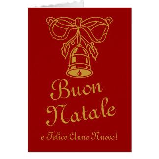 Tarjeta de felicitación italiana del navidad el  