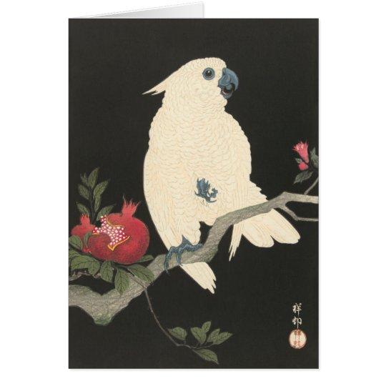 Tarjeta de felicitación JAPONESA del COCKATOO
