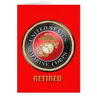 Tarjeta de felicitación jubilada USMC