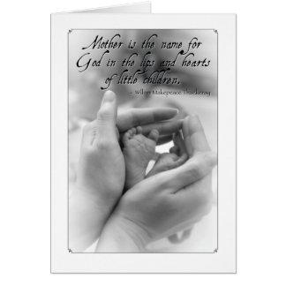 Tarjeta de felicitación: La madre es el nombre