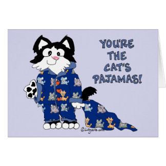 Tarjeta de felicitación linda de los pijamas de