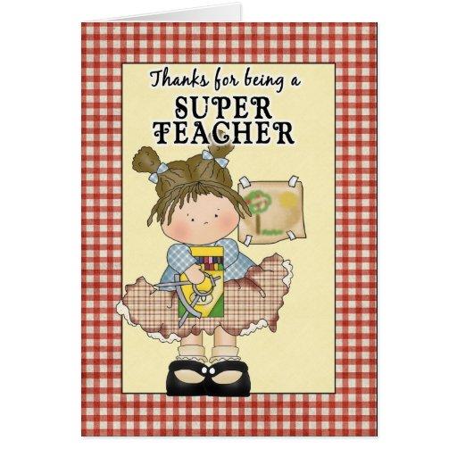 Tarjeta de felicitación linda del aprecio del prof