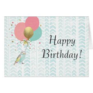 Tarjeta de felicitación linda del cumpleaños del