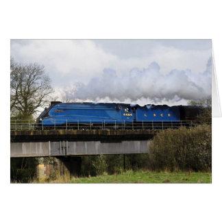 Tarjeta de felicitación locomotora del tren viejo