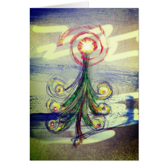 Tarjeta de felicitación mágica del árbol de