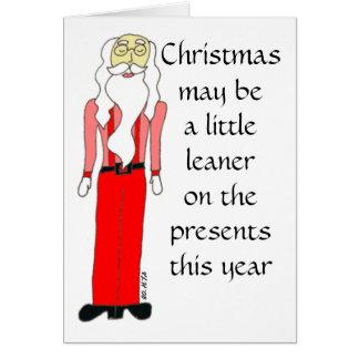 Tarjeta de felicitación magra del navidad de Santa