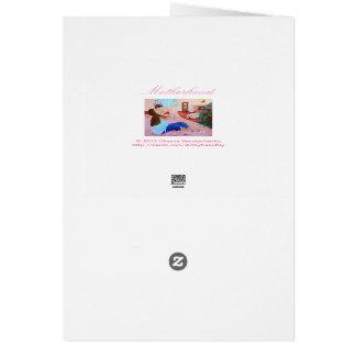 Tarjeta de felicitación. Maternidad