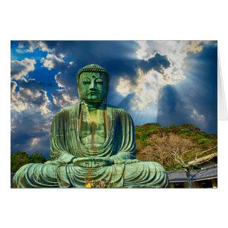 Tarjeta de felicitación Meditating de Buda