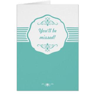 Tarjeta de felicitación - mensaje Editable