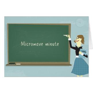 Tarjeta de felicitación minuciosa de la microonda