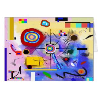 Tarjeta de felicitación moderna abstracta