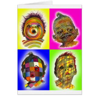 Tarjeta de felicitación multicolora del collage de