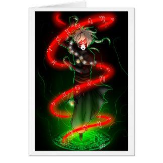 Tarjeta de felicitación nana del zodiaco