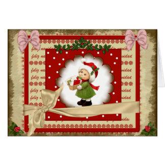 Tarjeta de felicitación Navidad 2017 estilo scrap