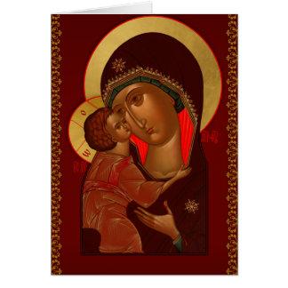 Tarjeta de felicitación ortodoxa rusa del navidad