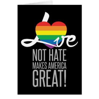 Tarjeta de felicitación oscura del odio del amor