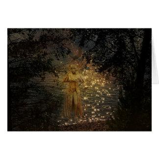 Tarjeta de felicitación pagana de la diosa del