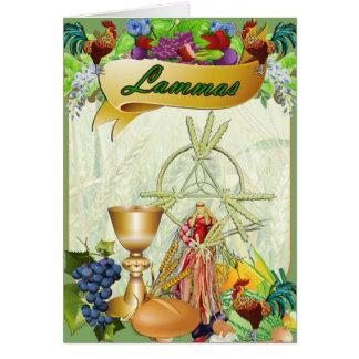 Tarjeta de felicitación pagana de Lammas