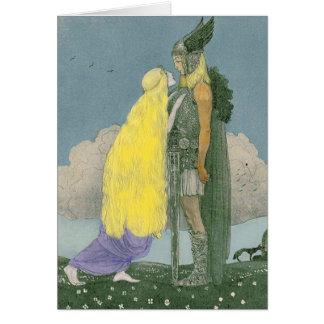 Tarjeta de felicitación pagana de los nórdises de