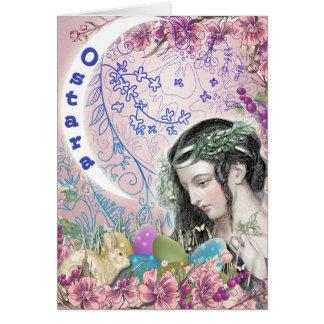 Tarjeta de felicitación pagana de Ostara
