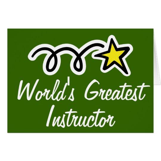 Tarjeta de felicitación para el instructor más