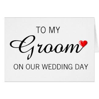 Tarjeta de felicitación para el novio el día de