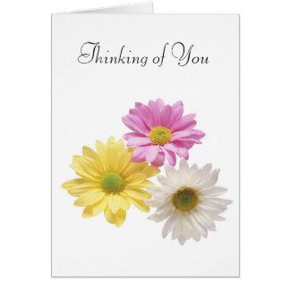 Tarjeta de felicitación - pensando en usted