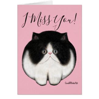 Tarjeta de felicitación persa del gatito de