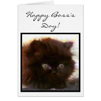 Tarjeta de felicitación persa del gatito del día