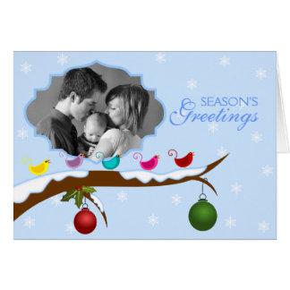 Tarjeta de felicitación personalizada de la foto