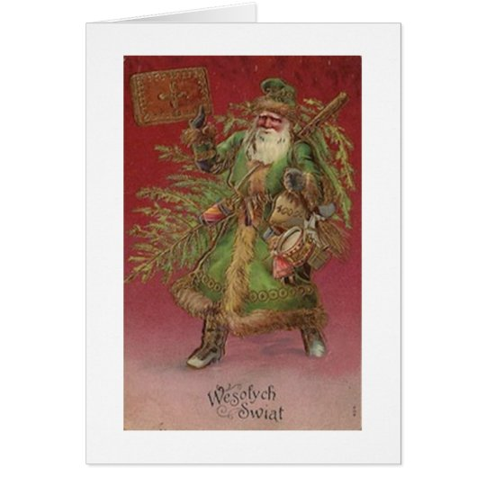 Tarjeta de felicitación polaca del navidad de