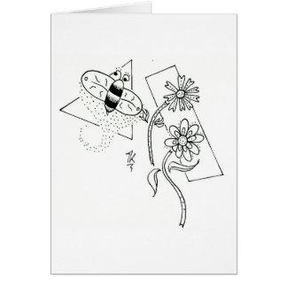 Tarjeta de felicitación polvorienta de la abeja de