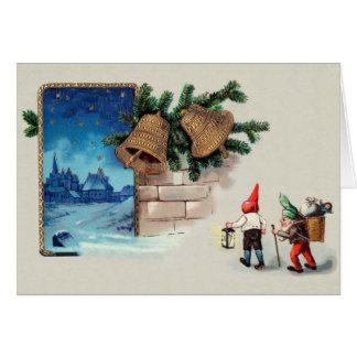 Tarjeta de felicitación porta del navidad