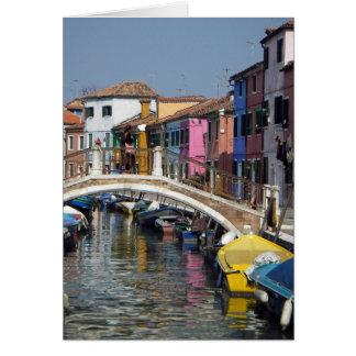 Tarjeta de felicitación:  Puente de Burano