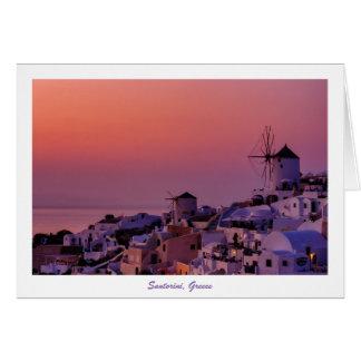 Tarjeta de felicitación - puesta del sol de