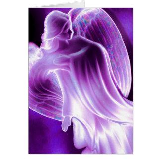 Tarjeta de felicitación púrpura majestuosa del